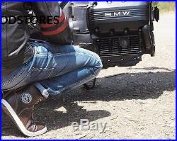 Bikers Gear UK Veste de Moto couleur Black Oxblood en cuir travaille Blouson