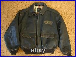 Blouson AVIREX 1943 Glenn Miller's A-2 Flight Bomber Veste Vintage cuir XL