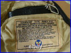 Blouson AVIREX Type A-2 Us Army de 1992 Mother Veste Vintage Noir cuir XL