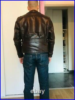 Blouson Aero Leather Half Belt Taille 40