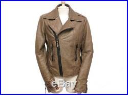 Blouson Balenciaga 38 M Perfecto Biker Veste En Cuir Marron Leather Jacket 1795