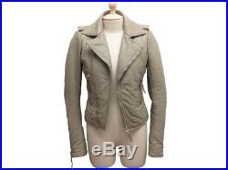Blouson Balenciaga Perfecto 36 S Ghesquiere Veste En Cuir Taupe Jacket 2950