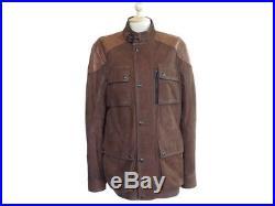 Blouson Belstaff Trialmaster 71050303 50 L En Cuir Marron Veste Jacket 1470