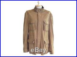 Blouson Berluti Saharienne 50 L En Cuir Camel Veste Manteau Leather Jacket 6200