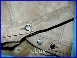 Blouson CHEVIGNON en cuir mouton lainé taille L ou 40