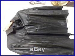 Blouson Chanel Taillel 42 Veste En Cuir Noir Black