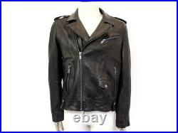 Blouson Chevignon Irving Dclc007 T52 L Veste Perfecto Cuir Leather Jacket 400