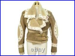 Blouson Christian Dior En Cuir Mouton Retourne M 40 Galliano 2005 Coat 4500