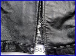 Blouson Cuir Blauer 44us Veste Police Boston Horsehide Leather Jacket Lederjacke