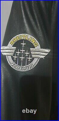 Blouson Cuir Du Breitling Jet Team