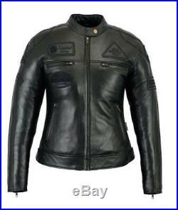 Blouson Cuir Moto Femme, Veste Moto, Kustom, MC Jacket, Lederjacke Damen