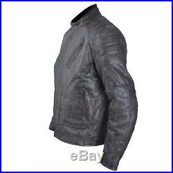Blouson Cuir Moto Veste Vintage Thermique Protections CE Amovibles