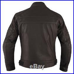 Blouson Cuir Qualité Thermique Protections CE Motocyclette Veste