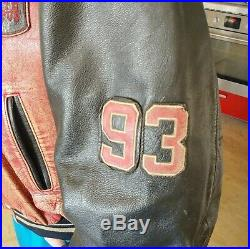 Blouson Cuir Redskins Teddy Classic 93 rare Bombers Veste