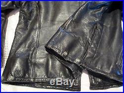 Blouson Cuir Schott 602 Police Us Veste Droite 46 Us Leather Jacket Lederjacke