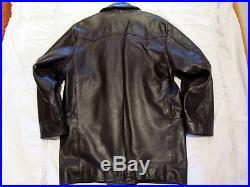Blouson Cuir Veste Redskins T. L, Lederjacke Leather Jacket Car Coat Ledermantel