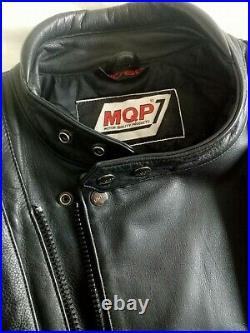 Blouson Cuir moto MQP vintage