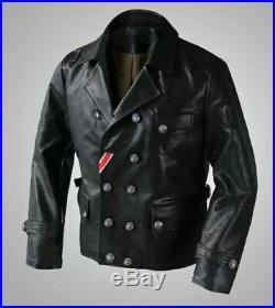 Blouson Cuir ww2 Militaria Allemand Aviateur Pilote jacket bomber german WWII