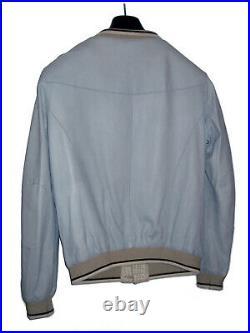 Blouson Delan en Cuir / Bleu/ Taille S / excellent état