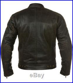 Blouson En Cuir Avec Patch Pour Homme, Veste Moto, Cuir, Tout Des Tailles S-5XL