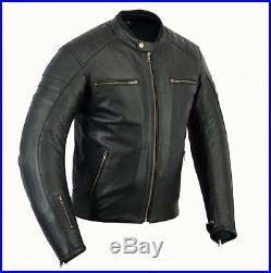 Blouson En Cuir Moto, Vintage, Cafe Racer, Biker, Motorrad Veste, Noir, Sport