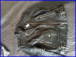 Blouson En Cuir Noire Neuf Étiquette Maje 395 Taille 36