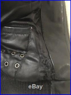 Blouson En Cuir Schott Homme XL 56 58 Veste Noire Leather Jacket Coat