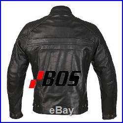 Blouson En Cuir pour Moto, Chopper, Noire, Veste Pour Homme, Tout Des Tailles XL