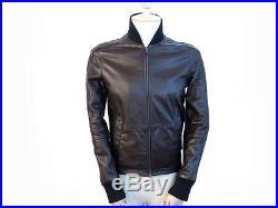 Blouson Faconnable Homme 46 48 M En Cuir Marron Veste Brown Leather Jacket 800
