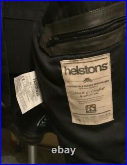 Blouson HELSTONS Ace Rag Cuir Noir/Marron