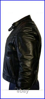 Blouson Homme Cuir MOTARD NEW T XXXL HIVER VERAZZANO ITALIA 100% REAL LEATHER