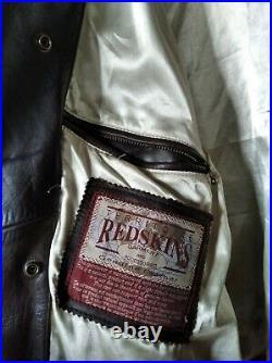 Blouson Homme Redskins Cuir Marron Taille XXL