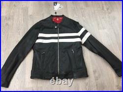 Blouson Homme cuir Taille L LADC PARIS Neuf Valeur boutique 379 type Gulf moto