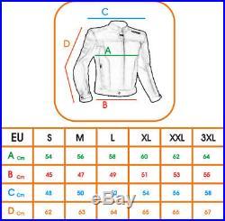 Blouson Lacets Rock Moto Cuir Veste Poche Protections et Renfort Dorsal