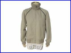 Blouson Leger Veste Hermes T 54 L En Coton Beige & Cuir Summer Coat Jacket 3100