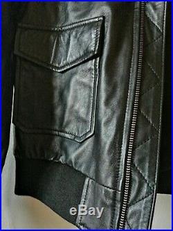 Blouson Maje en cuir noir neuf avec etiquette