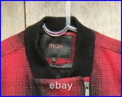 Blouson Maje laine et cuir d'agneau état neuf