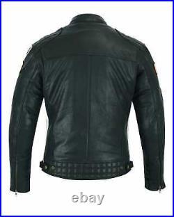 Blouson Moto Cuir Homme, Veste Moto, Blouson Moto, Biker Jacket, Retro Vintage