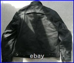 Blouson Moto Neuf Cuir Noir Triumph Patrol Jacket Taille L