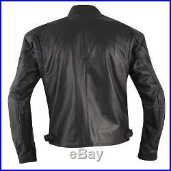 Blouson Noir Cuir Vachette Style Custom Protections Homologuées Veste
