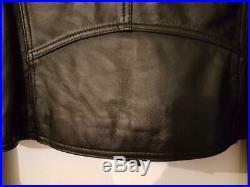Blouson Perfecto Cuir Noir OAKWOOD Taille XL Neuf