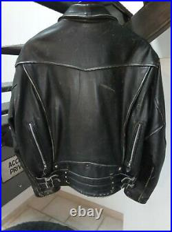 Blouson Perfecto cuir Lee Trevor collection taille L
