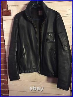 Blouson Pn 96 L 38 48 Vol Cuir Pilote Old Jacket Armee Leather Flight MIC 1984
