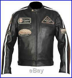 Blouson Pour Moto, Motocyclette Veste En Cuir, Motard Blouson En Cuir, Noir