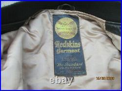 Blouson REDSKINS vintage teddy cuir DRAGON TEDDY DA-NANG HUE XL VIETNAM US