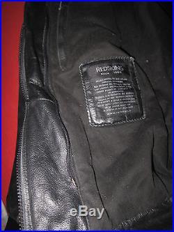 Blouson Redskins Blackstone Femme Veste cuir noir BE L
