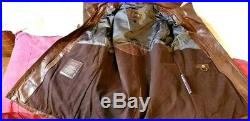 Blouson Redskins Cuir veste homme Taille XXXL ou T-6 ou 56 marron vintage-look