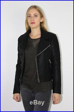 Blouson SEE U SOON Perfecto veste femme hiver motard manteau doudoune parka 40