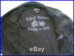Blouson Schott idn6875 Perfecto cuir noir agneau Homme Veste Vintage XL