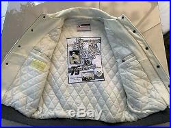 Blouson Teddy Avirex Cuir All Star Series Blanche Vintage Superbe État Taille L
